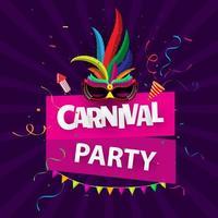 Fond de fête de carnaval brésilien vecteur