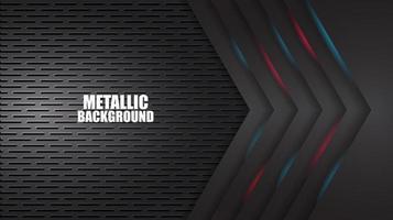 Fond géométrique rouge et bleu mat noir