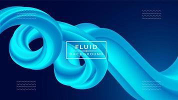 Abstrait moderne avec des formes fluides 3d