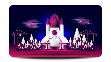 Chantier de construction de vaisseau spatial
