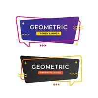 Conception de modèle de bannière de vente géométrique