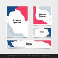 Modèle de flyer de brochure de rapport annuel coloré vecteur