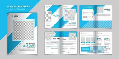 Modèle de conception de brochure de 8 pages