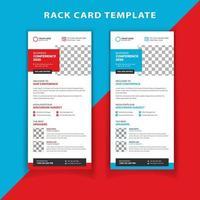 Modèle de carte de rack de conférence d'affaires vecteur