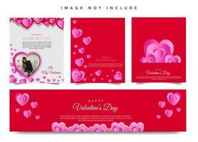 Bannières web de la Saint-Valentin