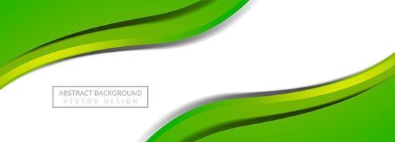 Bannière de vague fluide colorée moderne sur fond blanc