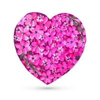 Carte de Saint Valentin avec fond de coeur de fleur colorée