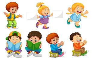 Ensemble de personnages enfants