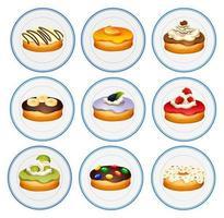 Différentes saveurs de beignets
