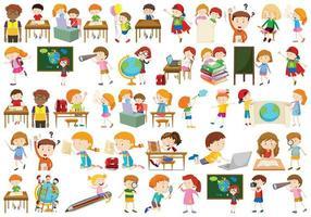 Ensemble d'enfants différents