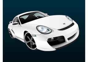 Porsche blanc vecteur