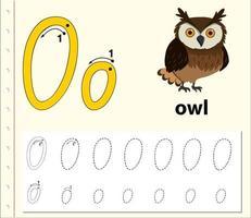 Feuilles de calcul de l'alphabet traçant la lettre B vecteur