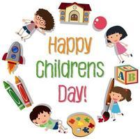 Logo de la journée des enfants heureux