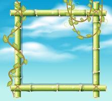 Une frontière de bambou sur le ciel