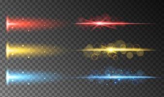 Un ensemble de lumière abstraite colorée vecteur