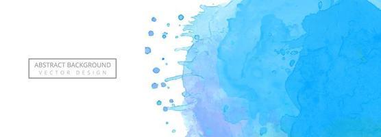 Fond de bannière splash aquarelle bleu moderne