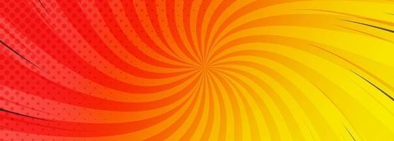 Fond de bannière comique coloré abstrait