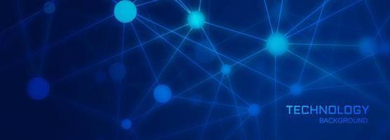 Fond de bannière de technologie avec des formes de connexion de polygone vecteur