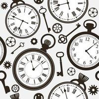 Fond d'écran horloge vecteur