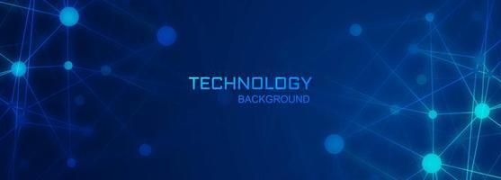 Fond de polygone de connexion numérique bannière technologie vecteur