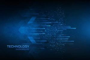 Concept bleu technologie fond bleu vecteur