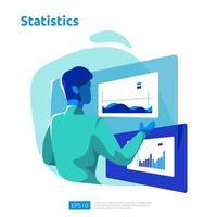 concept d'analyse numérique pour les études de marché vecteur