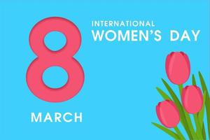 8 mars Journée internationale de la femme vecteur
