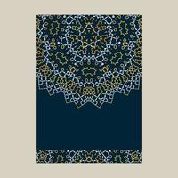 Design de couverture de mandala blanc et or