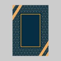 Conception de couverture de motif orné avec cadre pour texte