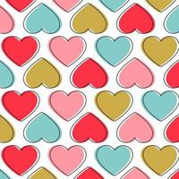 Modèle sans couture avec coeurs colorés