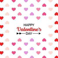 Joyeuse Saint Valentin avec petits coeurs vecteur