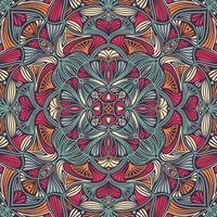 Mandala ethnique floral coloré ornemental vecteur