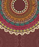 Ornement de cercle aztèque ethnique