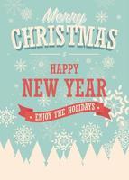 Conception d'hiver de carte joyeux Noël vecteur