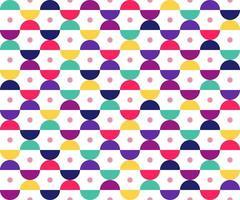 Modèle sans couture de formes géométriques et circulaires colorées vecteur