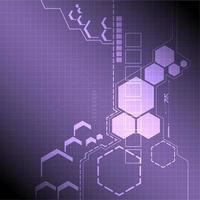 Conception hexagonale de technologie abstraite vecteur