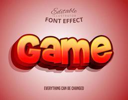 Texte dégradé du jeu, effet de police modifiable vecteur