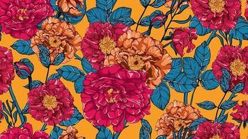 Modèle sans couture de roses