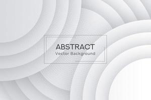 Fond de collection de forme arrondie blanche en couches vecteur