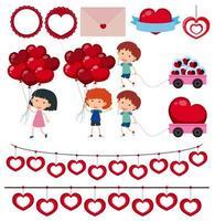 Ensemble de la Saint-Valentin vecteur