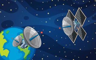 Satellite dans l'espace vecteur