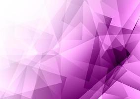 Conception abstraite violet low poly vecteur