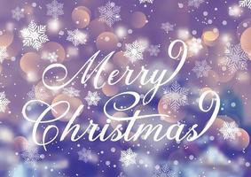 Texte de Noël décoratif sur fond de flocon de neige