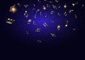 Fond de notes de musique abstraite