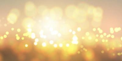Bannière de lumières bokeh doré