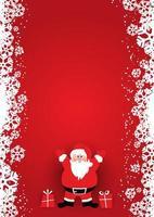 Conception d'affiche de Noël avec le père Noël vecteur