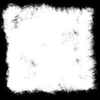 Bordure grunge en noir et blanc vecteur
