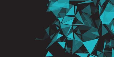 bannière abstraite avec design low poly 0401