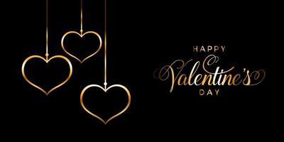 bannière élégante joyeux saint valentin