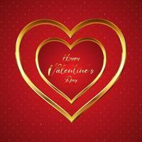 élégant fond de Saint Valentin avec des coeurs d'or 0801